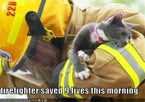 firefighter saved 9 lives this morning