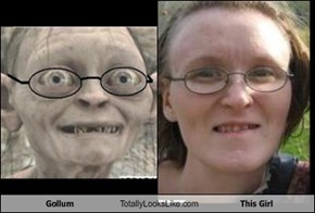 Gollum Totally Looks Like This Girl