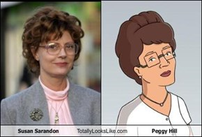 Susan Sarandon Totally Looks Like Peggy Hill