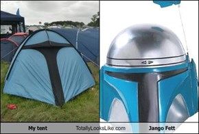 My tent Totally Looks Like Jango Fett
