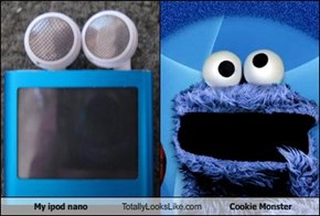 My ipod nano Totally Looks Like Cookie Monster