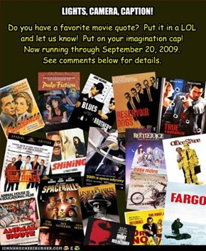 Calling all movie buffs!  Lights, camera, CAPTION!