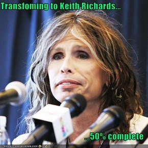 Transfoming to Keith Richards...  ...50% complete