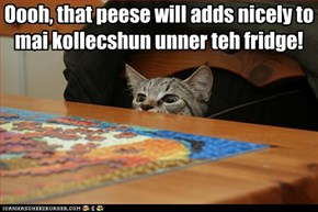 Oooh, that peese will adds nicely to mai kollecshun unner teh fridge!