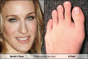 Sarah's Face Totally Looks Like A Foot