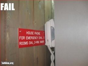 Dial 0 for fail