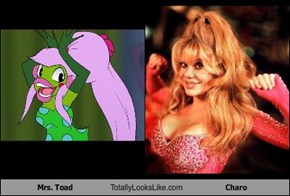 Mrs. Toad Totally Looks Like Charo
