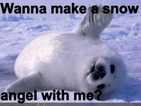 Wanna make a snow  angel with me?