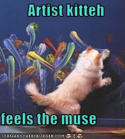 Artist kitteh  feels the muse