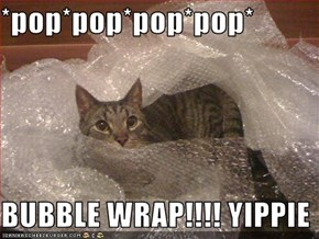 *pop*pop*pop*pop*  BUBBLE WRAP!!!! YIPPIE