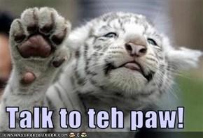 Talk to teh paw!