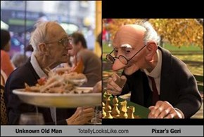 Unknown Old Man Totally Looks Like Pixar's Geri