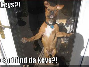 keys?!  cant find da keys?!