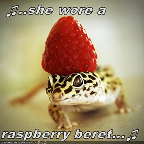 ♫..she wore a   raspberry beret...♫