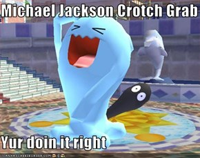 Michael Jackson Crotch Grab  Yur doin it right