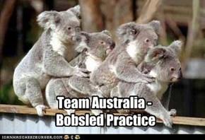 Team Australia -  Bobsled Practice