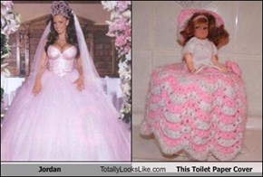Jordan Totally Looks Like This Toilet Paper Cover