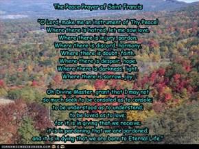 The Peace Prayer of Saint Francis