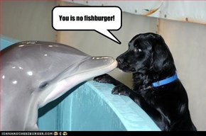 You is no fishburger!