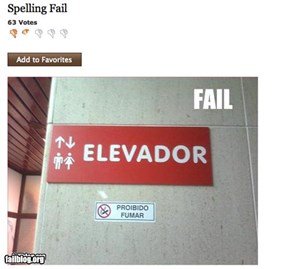 Multilingual fail