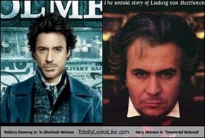 "Robery Downey Jr. in Sherlock Holmes Totally Looks Like Gary Oldman in ""Immortal Beloved"