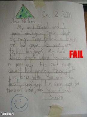 Letter Fail