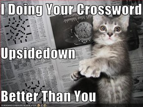 I Doing Your Crossword Upsidedown Better Than You