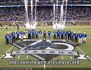 and counting with a losing record