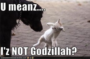 U meanz....  I'z NOT Godzillah?