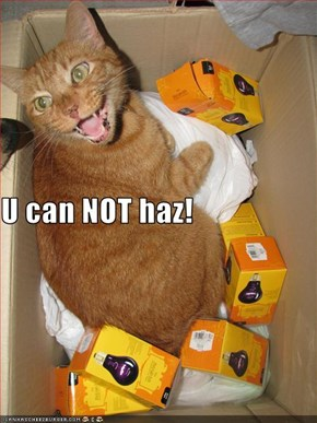 U can NOT haz!