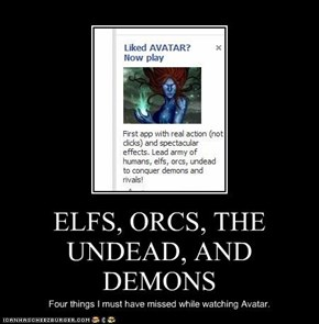ELFS, ORCS, THE UNDEAD, AND DEMONS