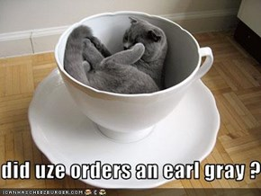 did uze orders an earl gray ?
