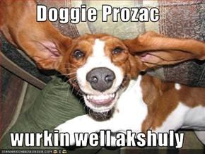 Doggie Prozac  wurkin well akshuly