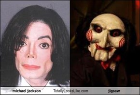 michael jackson Totally Looks Like jigsaw
