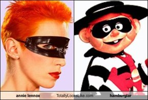 annie lennox Totally Looks Like hamburglar