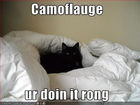 Camoflauge  ur doin it rong