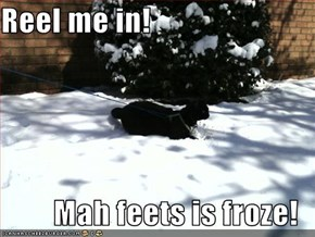 Reel me in!  Mah feets is froze!