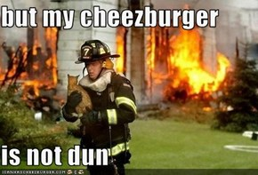 but my cheezburger   is not dun