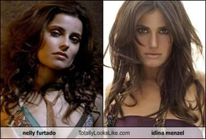 nelly furtado Totally Looks Like idina menzel