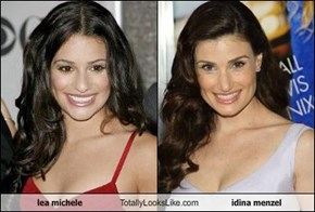 lea michele Totally Looks Like idina menzel