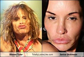 Steven Tyler Totally Looks Like Janice Dickinson