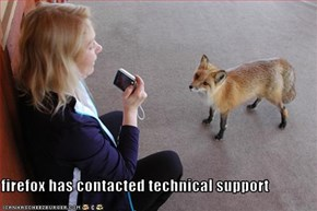 firefox has contacted technical support