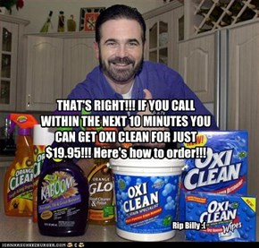 THAT'S RIGHT!!! IF YOU CALL WITHIN THE NEXT 10 MINUTES YOU CAN GET OXI CLEAN FOR JUST $19.95!!! Here's how to order!!!