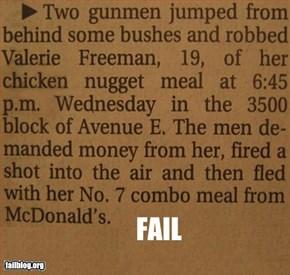 Armed Robbery Fail