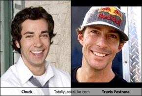 Chuck Totally Looks Like Travis Pastrana