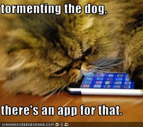 tormenting the dog,  there's an app for that.