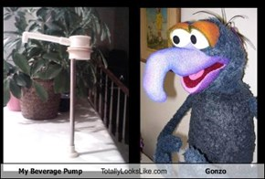 My Beverage Pump Totally Looks Like Gonzo