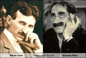 Nikola Tesla Totally Looks Like Groucho Marx