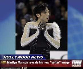 "HOLLYWOOD NEWS - Marilyn Manson reveals his new ""softer"" image"