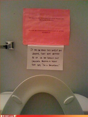 Bathroom Advice for Idiots